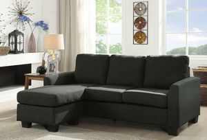 GREY REVERSIBLE SECTIONAL SOFA CHAISE for Sale in Menifee, CA