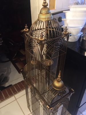 """Bronze 55"""" Royal Bird Cage; Barely Used! for Sale in Jacksonville, FL"""