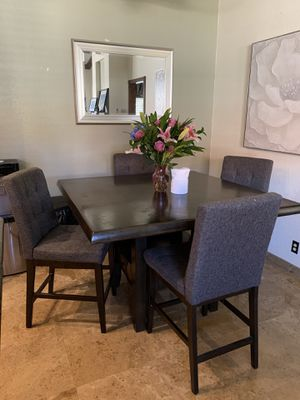 Beautiful Wood Kitchen Table + 4 Chairs for Sale in La Mirada, CA