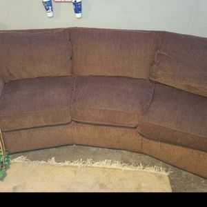 3 Seater Brown Couch for Sale in Bellwood, IL