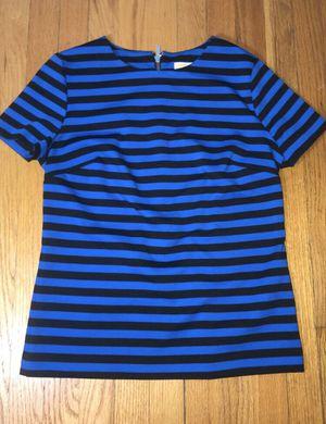MICHAEL KORS blue stripped women blouse size Medium for Sale in Stickney, IL