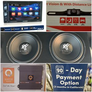 Blaupunkt Stereo with Mirror Link & Backup Camera + Hifonics Subwoofer System with Free Installation for Sale in Las Vegas, NV