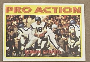 Pro Action Roman Gabrial 1972 Topps Football Card # 128 for Sale in Glen Ellyn, IL