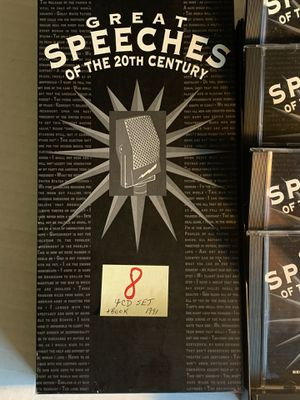 Great Speeches of the 20th Century 4 CD Set w/Book for Sale in Chino, CA