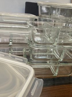 Glass Food Containers 10pc for Sale in Downey,  CA