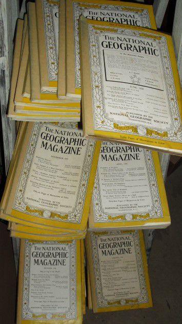 Vintage 1945-1949 National Geographic magazines