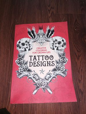 Adult coloring book tattoo designs 100 pages for Sale in Chesapeake, VA