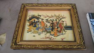 Asian painting on framed tile for Sale in North Charleston, SC