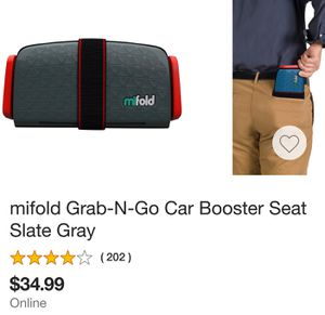 Mifold Mini Booster Seat for Sale in Whittier, CA