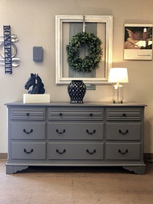 Heavy solid wood vintage dresser buffet entry table tv stand media console 66w32high19deep for Sale in Glendale, AZ