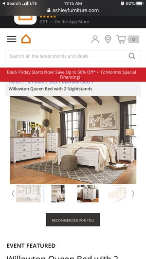 Ashley Furniture Willowton Bedroom Set for Sale in Bel Aire, KS