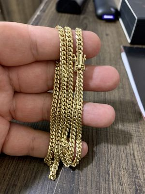 Miami Cuban link chain 14k for Sale in Sanger, CA