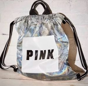 NWT Victoria's Secret VS PINK Drawstring Bag Backpack, Holographic (Women's Clothes/Christmas Gifts) for Sale in Kissimmee, FL