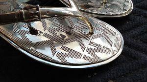 Michael Kors gold flip-flops for Sale in Seattle, WA
