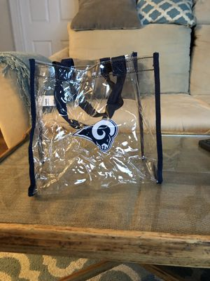 Rams clear game bag * Bag height 11 inches for Sale in Ashburn, VA