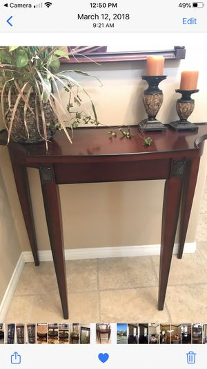 Small entryway table. Dark wood for Sale in Plano, TX