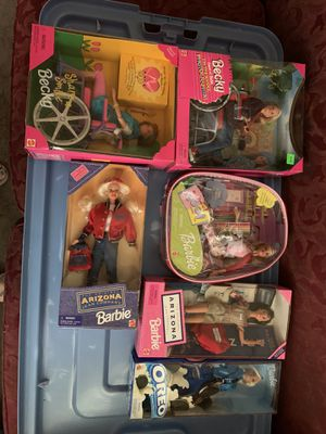 6 Barbies-Share A Smile and School Photographer Becky, School Cool, Orel, and 2 Different Arizona Barbies for Sale in Moundsville, WV