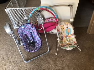 Baby swing, bouncer and play mat for Sale in Alexandria, VA