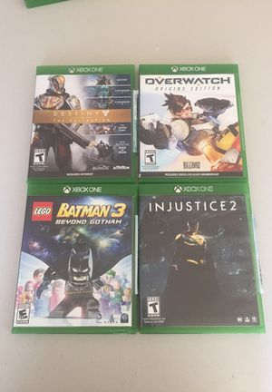 4 used Xbox one games bundle for Sale in Redmond, WA