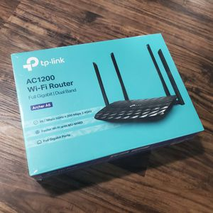 TP-Link AC1200 Archer A6 WiFi Router Dual Band Gigabit - Unopened for Sale in Detroit, MI