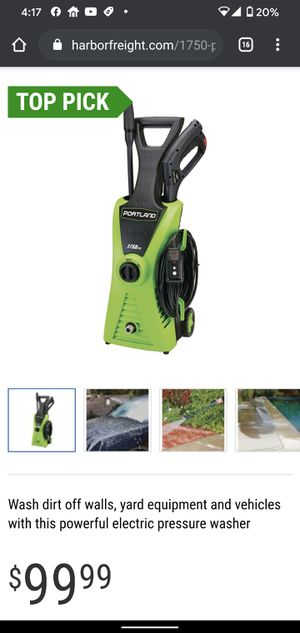 PORTLAND 1750 PSI 1.3 GPM Corded Electric Pressure Washer for Sale in Los Angeles, CA