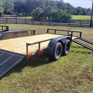 NEW 2021 - 7x16 TA Utility Trailer + Brakes for Sale in Mount Dora, FL