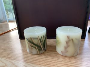 Decorative wood scented candles for Sale in Chantilly, VA
