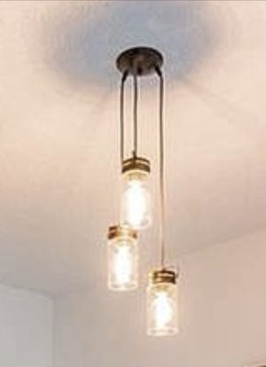 Pendant lights / chandelier with vintage globe bulbs for Sale in Tampa, FL
