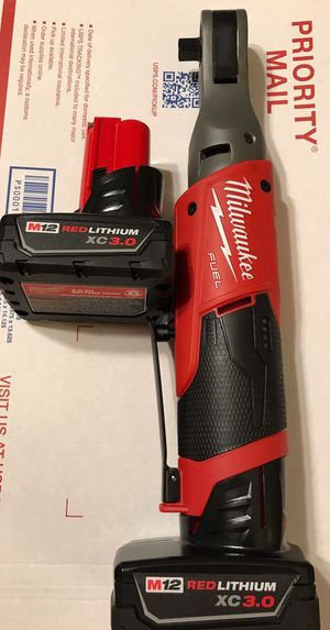 Milwaukee fuel 3/8 ratchet $175 firm with two batteries $150 sperm with one battery pick up only for Sale in Glendale, AZ