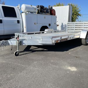 Aluma Aluminum Trailer All Aluminum Like New 16ft Trailer Great For All Your Toys for Sale in Livermore, CA