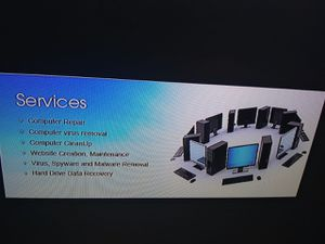 COMPUTER REPAIR AND WEBSITE BUILDING for Sale in Los Angeles, CA