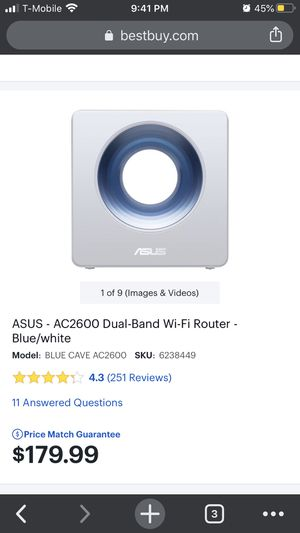 Asus ac2600 dual band WiFi router for Sale in Jacksonville, FL