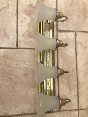 Brass and glass light fixtures (2) for Sale in Houston, TX