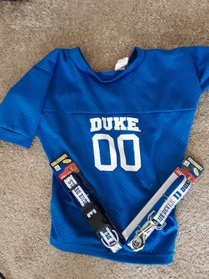 Duke shirt, collar and leash for a dog for Sale in Durham, NC