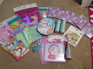 Unicorn Birthday Party Supplies for Sale in Reedley, CA