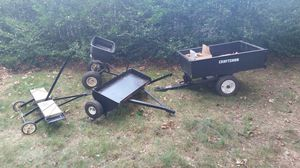 Craftsman lawn tractor attachments lot for Sale in Billerica, MA