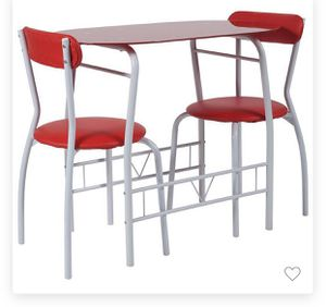 Bistro set - tempered glass RED BRAND NEW for Sale in Las Vegas, NV