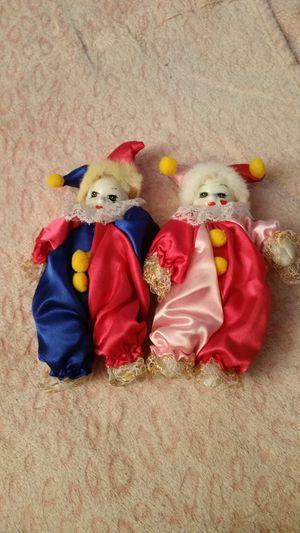Porcelain Harlequin Dolls for Sale in Manassas, VA