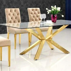 Capri Gold/Beige Dining Set $39 down payment only for Sale in Arlington, VA