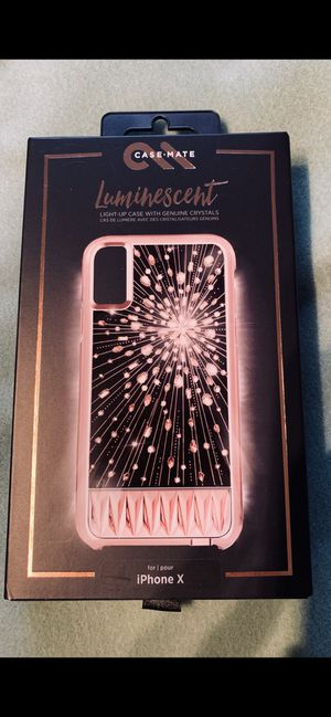 CASE-MATE LUMINESCENT CASE FOR iPhone X/XS for Sale in Greenwich, CT