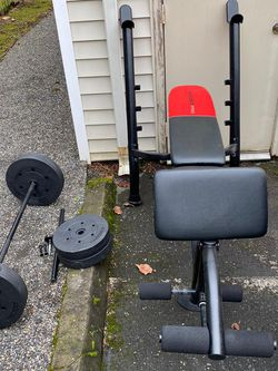 Bench Press (weider )+80lb Weights .Dlivery Available for Sale in Troutdale,  OR