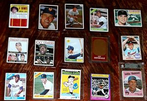 VINTAGE BASEBALL CARDS WITH CERTIFIED AUTO for Sale in Turlock, CA