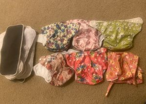 5 Cloth Diapers (Pockets) / 10 inserts / 1 wetbag included for Sale in Vancouver, WA