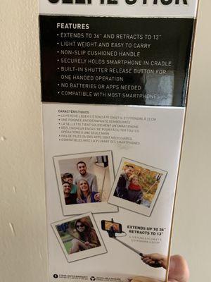 Selfie stick toma tus fotos de una manera fácil u sencilla 😁 for Sale in Huntington Park, CA