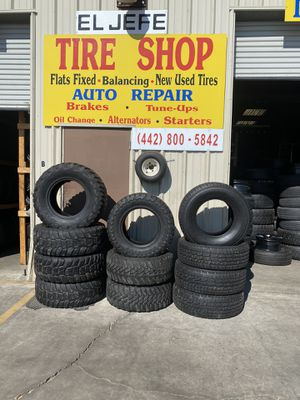 Tires like new all sizes good tread starting at $25 up $25 up 9520 c ave hesperia el jefe tire shop open Sunday for Sale in Hesperia, CA