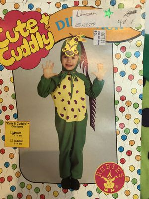 TWIN cute and cuddly dinosaur infant Halloween costumes for Sale in Glendale Heights, IL