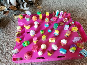 Shopkins Gang - Like New $100 (50-60 pieces) with Carrying Case for Sale in Terrell, TX