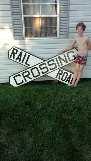 Antique cast iron railroad crossing sign for Sale in Millersburg, PA