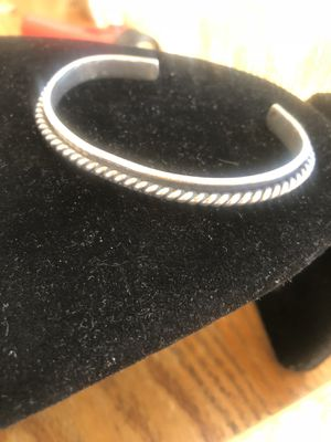 Vintage taxco Mexican sterling silver 925 cuff bangle bracelet wire design 30 grams for Sale in Glendale, CA