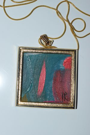 Vintage gold frame painting pendant necklace for Sale in North Little Rock, AR